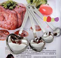 heart measuring spoons - Heart Shaped Measuring Spoons Tea Coffee Measuring Spoon Wedding Supplies Favors Bridal Favors LOVE Gift C1458