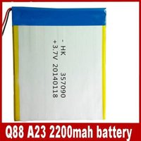 Wholesale 3 V mAh lithium polymer battery for inch Q88 android tablet PC allwinner A13 A23