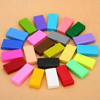 red clay - Colorful fimo Effect Polymer Clay Blocks Soft