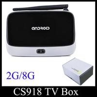 Wholesale Smart TV BOX G G CS918 Q7 Bluetooth RK3188T Quad Core KODI14 T R42 Android Mini PC WIFI Airplay DLNA Miracast OTH120