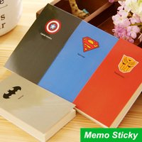 memo pad - 4 Hero Memo pad Cool memo notes paper Superman Batman Post it stickers stationery office material School supplies