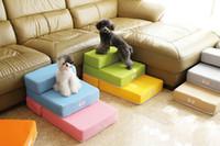 achat en gros de escaliers animaux-15PT01 coloré animaux de compagnie chien d'animal de compagnie Escaliers chiot antidérapant Stairs Escaliers Escaliers pliés 2-step Chien Escaliers 1PC