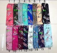 Wholesale 2015 New Big Dragonfly Print Scarf Women Wrap Star Animal Shawl Women Dragonfly Scarves Long Scarf