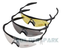 airsoft shooting glasses - Airsoft Tactical UV400 Sporty Protection Solider Shooting Glasses Outdoor Googles Black Yellow Clear