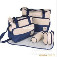 Wholesale Xayakids Factory direct Shelf fashion multifunction Mummy bag microfiber cloth five sets of dark blue material safety and environmental prot
