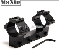 Wholesale 25 mm quot Diameter See Through Double Scope Rings of mm Mount Base Dovetail Rail and mm Weaver Rail at the Top