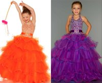 drop waist - V Neck Girl s Pageant Dresses Beads Organza Ruffle Sash with Dropped Waist Ribbon Belt Cascading Junior Formal Ball Gowns