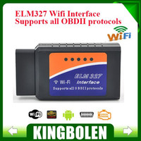 Wholesale 2015 Latest Version ELM327 WIFI OBD2 OBDII Auto Diagnostic Scanner Tool ELM WiFi Diagnostic Tool A3