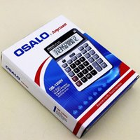 Wholesale Durable OSALO OS V Solar Power Digital Electronic Office Calculator with large display and plastic key
