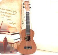 acoustic guitars music - Professional inch Acoustic Soprano Ukulele Guitar Music Instrument Wood Guitar Sapele Hawaiian Guitar High Quality