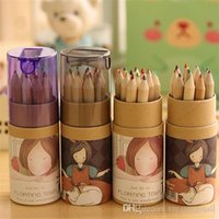 Wholesale 12 Colors Artist Professional Fine Drawing Painting Sketching Writing Pencil Cases A5