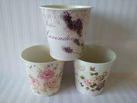 Wholesale Round Metal garden bucket tin box Iron pots Flower pot Planter Wedding Decoration LG
