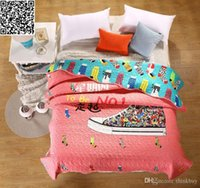 Wholesale summer Patchwork Bedspread queen size cm fashion printing quilted bedspreads