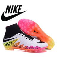 Nike hypervenom fantasma tacos ii fg de fútbol con tacos acc 100% para hombre originales chicos de fútbol zapatos de fútbol Nike acc arco iris de colores