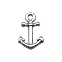 antique metal plate - Fashion Metal Antique Silver Plated Custom Nautical Anchor Charms