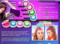 Wholesale Europe and America Popular DIY in Hair Dye Hot Huez Temporary Hair chalk compacts Pastel Hair Dye Color Chalk Hair Dyeing set