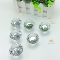 Wholesale 50pcs mm Clear Diamond Shape Crystal Glass Pull Handle Cupboard Cabinet Drawer Door Furniture Knob DHL EMS Free