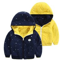 Wholesale NEW HOT winter fashion child boys children s clothing down cotton padded jacket Printed label jacket coat boys XT1660