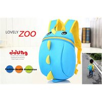 Wholesale 5Colors Children s Backpack Cute Dinosaur Shape Backpack Child School Kid Boy and Girl Cartoon Bag School bags