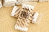 Wholesale 40pcs small bag Senior health swab double slider antibiotic health cotton swab cotton sticks tampons cm HY757