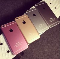 Wholesale HOT IPHONE Plus colorful phone PC Hard case cover for IPHONE PLUS S metal PC Hard phone case