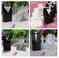 Wholesale 1000pcs pairs New Arrival bride and groom box wedding boxes favour boxes wedding favors style