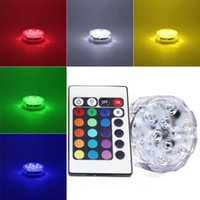 Wholesale Waterproof Outdoor Submersible RGB LED Diving Lights Colors W V Holiday Wedding Garden Lights With Remote Controller B143