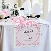 Wholesale Personalized cm cm Pink Floral Reception Wedding Desk Table Runner Table Centerpieces Wedding Decoartion