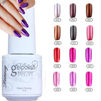 uv gel nail polish - 12Pcs Gelish Nail Polish UV Gel Metallic Mirror Effect Soak Off Nail Lacquer Brand New Top Quality Long lasting Colors Colors ml
