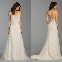 Reference Images alvina valenta dress - Alvina Valenta Wedding Dresses Sexy Deep V Neck Spaghetti Backless Wedding dresses Lace Wedding Dresses