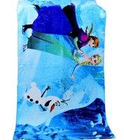 cotton beach towel - 2015 NEW froze Elsa princess Anna princess Pure cotton bath towel Absorbent cotton beach towel DHL