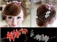 Cheap Wedding hair accessories Bridal Pearls Crystal Rhinestone Flower Hair tiara Headband