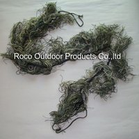 airsoft ghillie wrap - m Elastic Synthetic thread Colors Mixed Woodland Ghillie Paintball Airsoft Rifle Camoflauge Camo Wrap Hunting Accessories