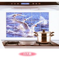 Wholesale Home upscale kitchen King IOPP stickers anti smoke tiling wall stickers affixed anti oil stove