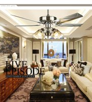 Wholesale Mr Lighting new LED European retro style alloy fan lamp the living room lamp DSD
