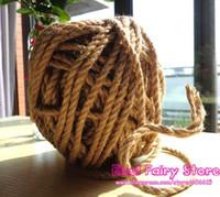 Wholesale NEW Natural Hemp Rope mm x40m Jute pet tie Jute rope Hemp rope DIY jute cord