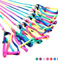 dog collars and leashes - New arrivals Colorful adjustable Dog Harnesses Leashes Rainbow Colors Small pet Dog and Cat Pet Collar Traction Rope Leash Pet Supplies