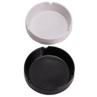 Wholesale New Eco Friendly Pocket Round Shatterproof Cigar Resin Ashtray Ash Cinzeiro Smokeless EJ875209