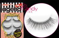 Wholesale W Pair Cotton Natural Eyelash Extension Handmade Long Thick False Eyelashes Makeup Black Fake Eye Lashes Beauty Health