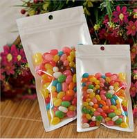 Precio de Bolsas de plástico para alimentos-OEM 12 * 20cm Claro perla blanca de plástico poli OPP cremallera embalaje cerradura del cierre relámpago al por menor de la joyería del paquete bolsa de plástico de PVC de alimentos 10 * 18 12 * 15 * 7,5 cm 12 de DHL