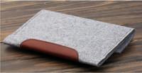 Wholesale Simple Style Wool Felt PU Leather Sleeve Case For iPad mini ipad mini2 ipad mini3 Tablet Universal
