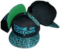Wholesale Hiphop COMME des FUCKDOWN Snapbacks hats most popular Adjustable hat black blue leopard