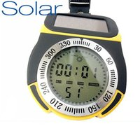 Cheap Wholesale-6 in 1 Waterproof Solar electronic altimeter,mountaineering meter,Outdoor essential,Altitude barometer,Compass,Weather Stations