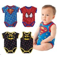 newborn vests - new born clothes Summer ropa bebe newborn baby baby boy spiderman romper vest Superman Romper infant baby cartoon romper