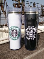 glass mug - D38 Factory Directly Selling Starbucks New Heatproof Glass Double Wall Plastic Mug ml Cups Coffee Tea Travelling Mug Freeshipping