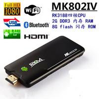 Wholesale Hot sale Rikomagic Android Dual Core G GB Miracast USB Bluetooth TV Stick P Wifi MK802IIIS Mini PC Player V635