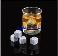 Wholesale Whisky Stones Set of Rounded Soapstone and Bag These Smooth Square Rocks are Used to Replace Ice Cubes in Glasses