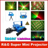 Wholesale LED Mini Stage Light Laser Voice Control Projector Mixed Red Green Lighting With Tripod For Lights Xmas Club Party Bar Pub Club Music DJ