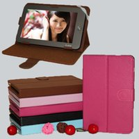 Wholesale Universal Buckle Design Holster Stand Leather Case for inch Tablet PC