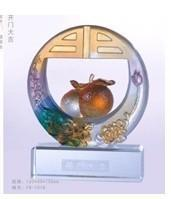 Wholesale Dragon universal supply glass ornaments ornaments large open Jilong in the Grand Canal Figure